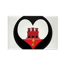 I love Gibraltar Flag Rectangle Magnet