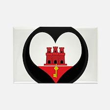 I love Gibraltar Flag Rectangle Magnet