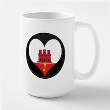 I love Gibraltar Flag Large Mug