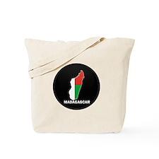 Flag Map of Madagascar Tote Bag