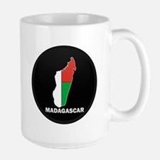 Flag Map of Madagascar Mug
