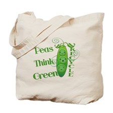 Earth Day Peas Tote Bag