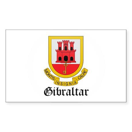 Gibraltarian Coat of Arms Sea Rectangle Sticker