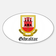 Gibraltarian Coat of Arms Sea Oval Decal
