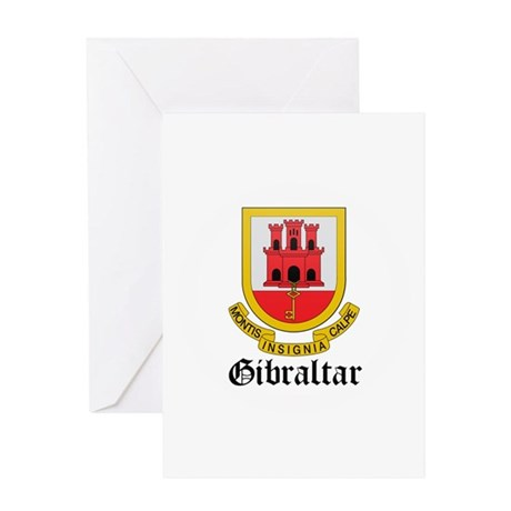 Gibraltarian Coat of Arms Sea Greeting Card