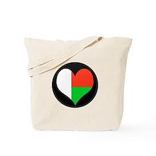 I love Madagascar Flag Tote Bag