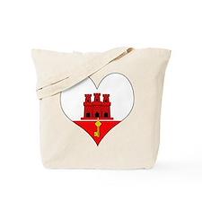 I Love Gibraltar Tote Bag