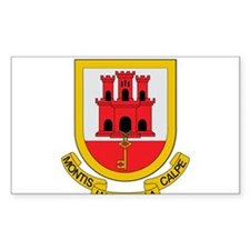 Gibraltar Coat of Arms Rectangle Decal