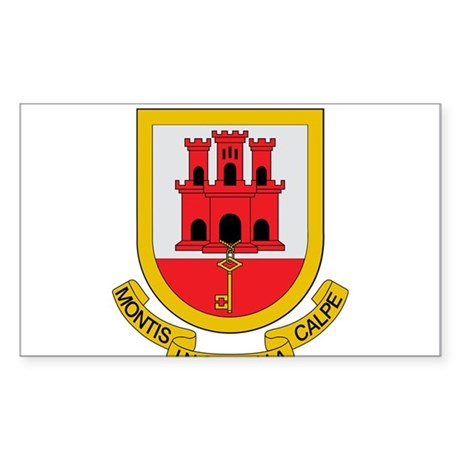 Gibraltar Coat of Arms Rectangle Sticker