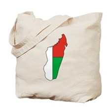 Madagascar Flag Map Tote Bag