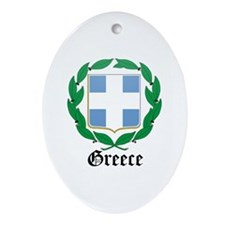 Greek Coat of Arms Seal Oval Ornament