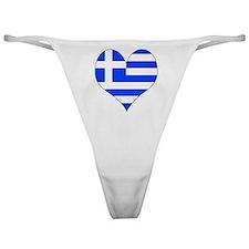I Love Greece Classic Thong