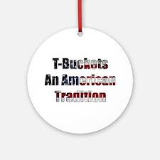 T-Bucket America Ornament (Round)