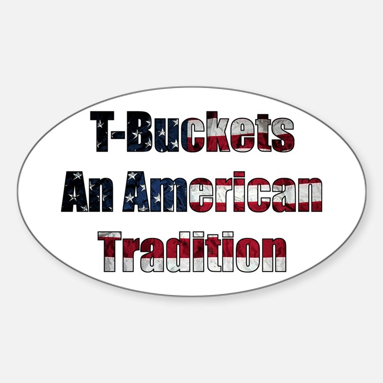 T-Bucket America Oval Decal