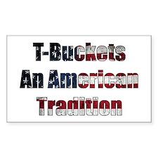 T-Bucket America Rectangle Decal