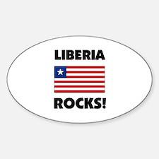 Liberia Rocks Oval Decal