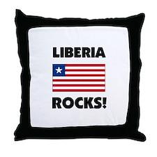 Liberia Rocks Throw Pillow