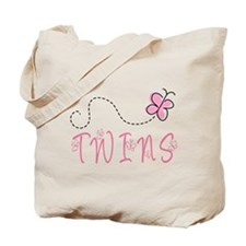 Cute Pink Twins Tote Bag