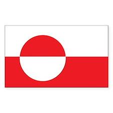 Greenland Flag Rectangle Sticker 10 pk)