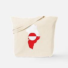 Greenland Flag Map Tote Bag