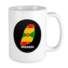 Flag Map of grenada Mug