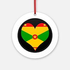 I love grenada Flag Ornament (Round)