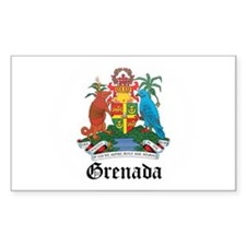 Grenadian Coat of Arms Seal Rectangle Decal