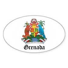 Grenadian Coat of Arms Seal Oval Decal