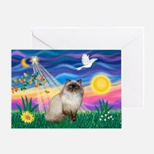 Twilight / Himalayan Cat Greeting Card