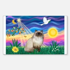 Twilight / Himalayan Cat Rectangle Decal