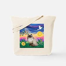 Twilight / Himalayan Cat Tote Bag