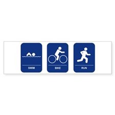 Triathlon Bumper Bumper Sticker
