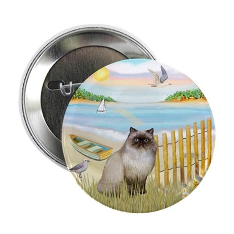 "Rowboat / Himalayan Cat 2.25"" Button (10 pack"