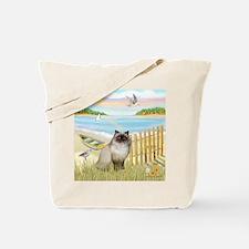 Rowboat / Himalayan Cat Tote Bag