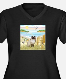Rowboat / Himalayan Cat Women's Plus Size V-Neck D