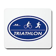 Triathlon Oval Mousepad
