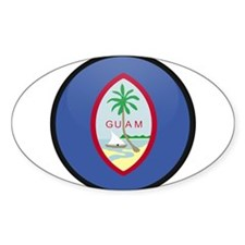 GUAM Oval Decal