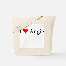 I Love Angie Tote Bag