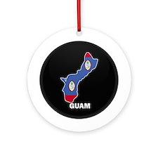 Flag Map of GUAM Ornament (Round)