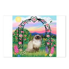 Rose Arbor / Himalayan Cat Postcards (Package of 8