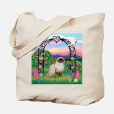 Rose Arbor / Himalayan Cat Tote Bag