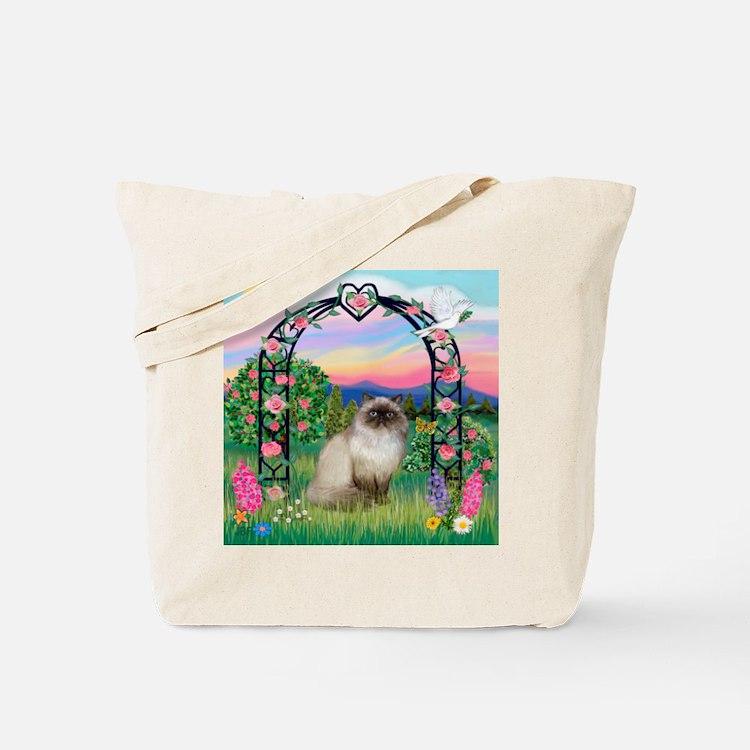 Rose Arbor / Himalayan Cat Tote Bag