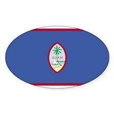 GUAM Flag Oval Decal
