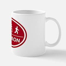 Triathlon Oval Red Mug