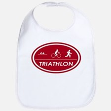 Triathlon Oval Red Bib