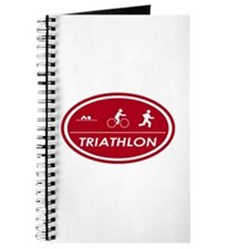 Triathlon Oval Red Journal