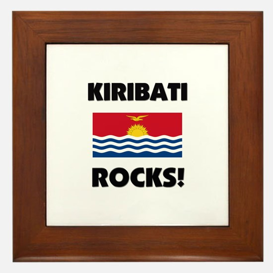 Kiribati Rocks Framed Tile