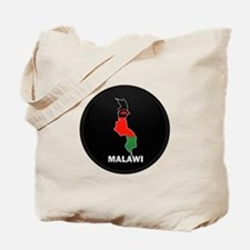 Flag Map of malawi Tote Bag
