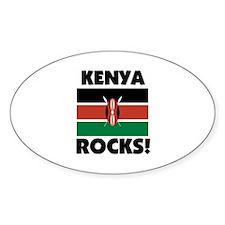 Kenya Rocks Oval Decal