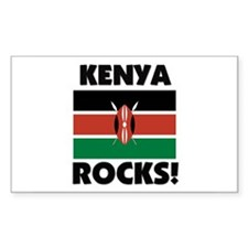 Kenya Rocks Rectangle Decal